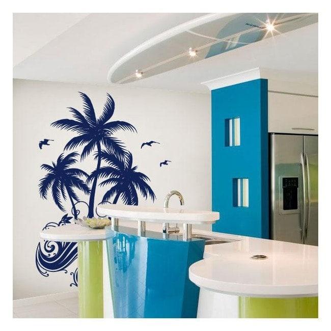 Palmiers décoratifs de vinyle