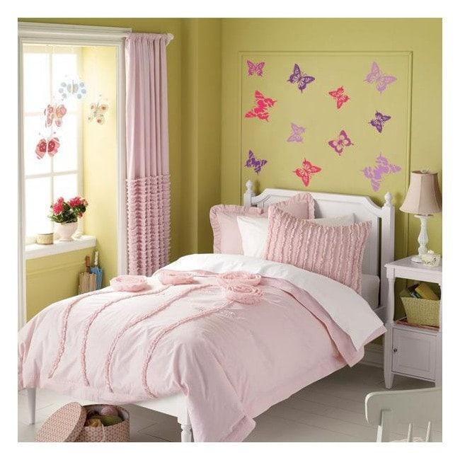 Papillons décoratifs vinyle