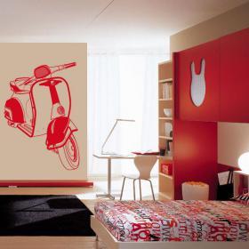 Vinyle décoratif Moto Scooter