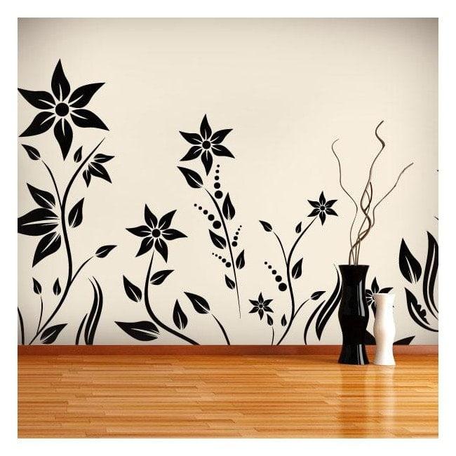 Jardin décoratif vinyl avec fleurs I
