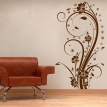 Fleurs décoratives vinyle verticale I
