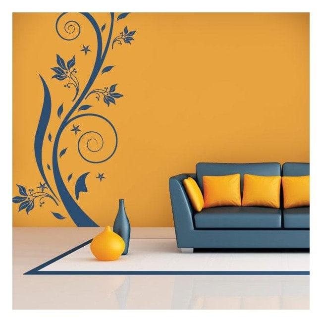 Fleurs décoratives de vinyle verticale