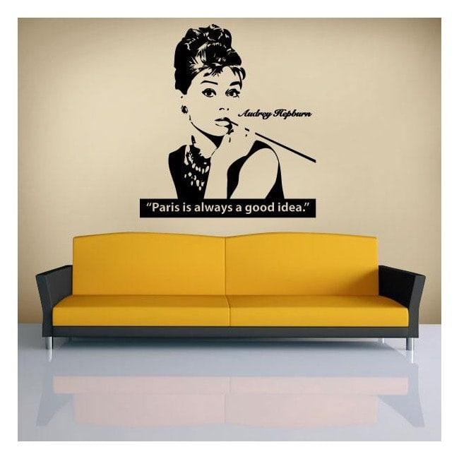 Décoratif vinyl Audrey Hepburn