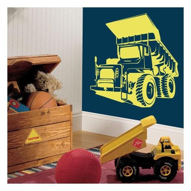 Camion à benne basculante vinyle décoratif