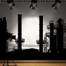 Usine de panoramique vinyle décoratif