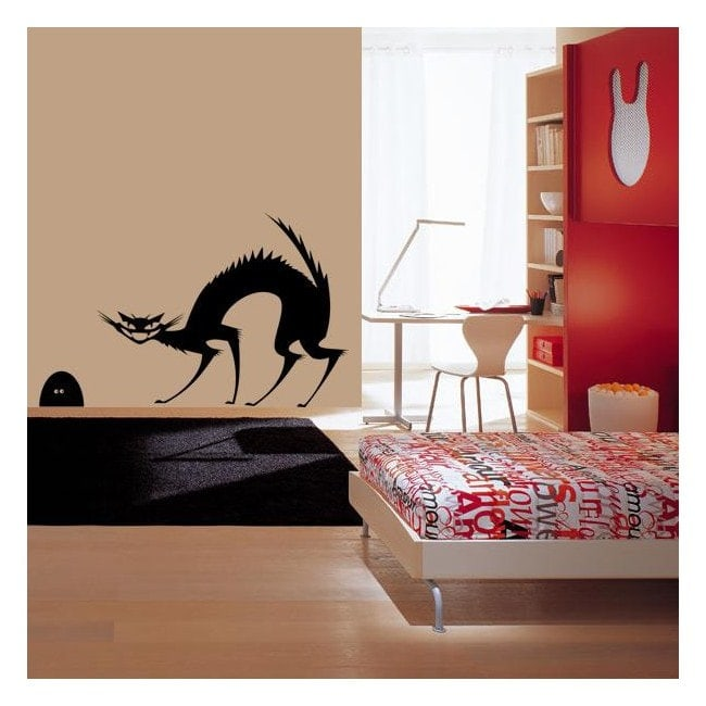 Souris et chat décoratif vinyl