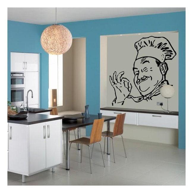 Décoratif vinyl Chef