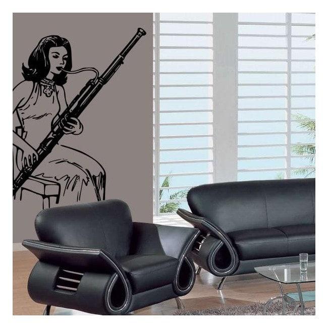 Décoratif vinyl jouant le basson