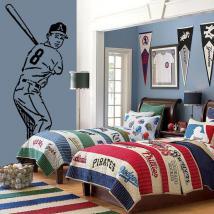 Vinyle décoratif de joueur de baseball
