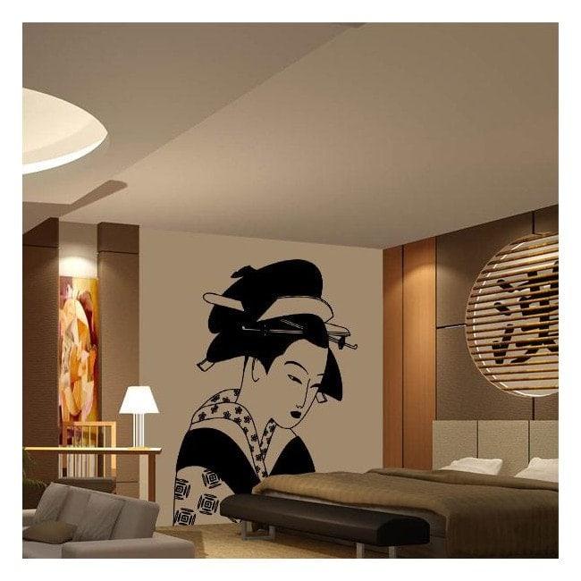 Femme japonaise vinyle décoratif