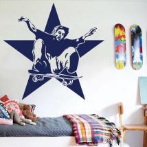 Patineur de vinyle décoratif et Star
