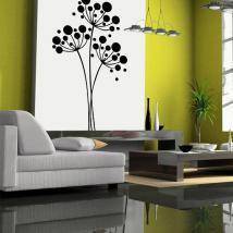 Cercles et fleurs décoratives de vinyle