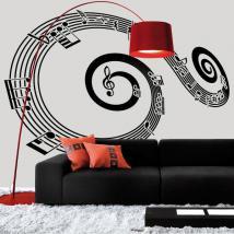 Personnel de vinyle décoratif spirale