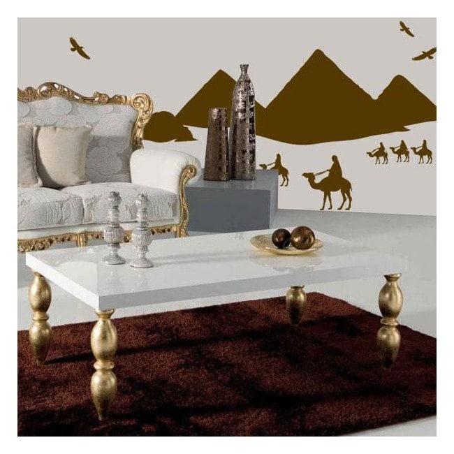 Pyramides de vinyle décoratif de l'Égypte