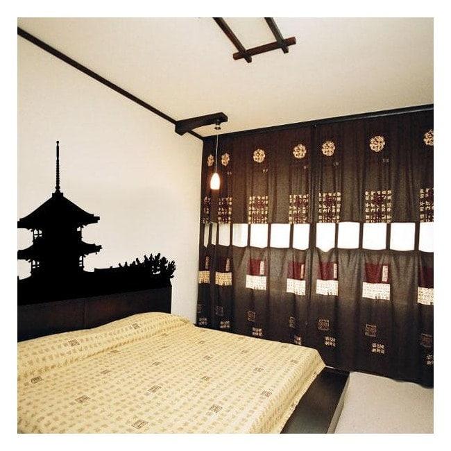 Vinyle décoratif pagode japonaise