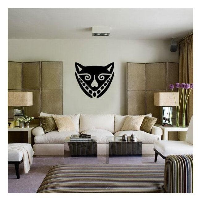 Masque africain vinyle décoratif