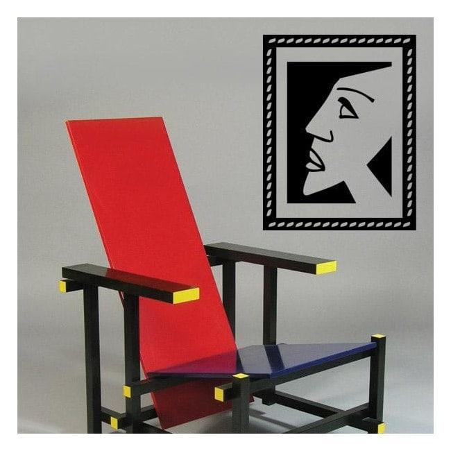 Portrait cubiste vinyle décoratif
