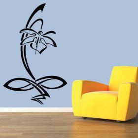 Fleur de vinyle décoratif orchidée