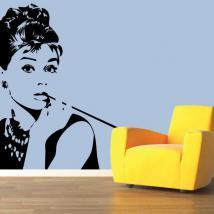 Silhouette décorative vinyle Audrey Hepburn