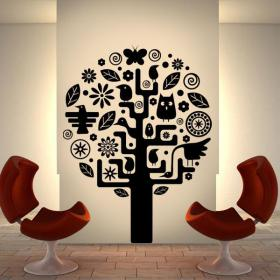 Vinyle décoratif arbre aztèque