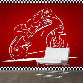 Vélo de course de vinyle décoratif