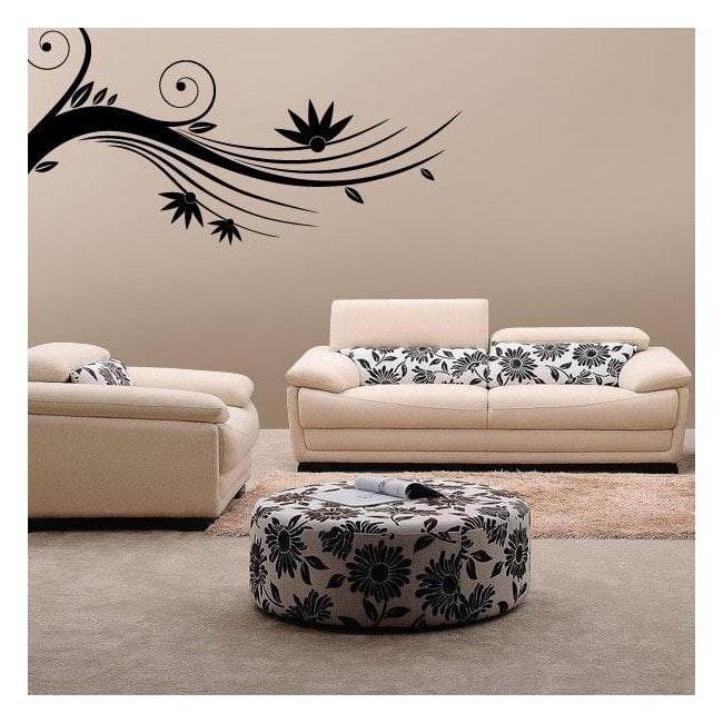 Stickers Floral branche murs