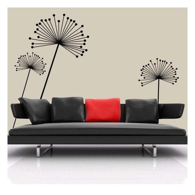 Vinyle décoratif fleurs minimaliste