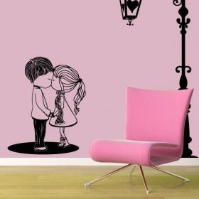 Moment romantique de vinyle décoratif