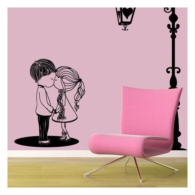 Moment romantique de vinyle décoratif French 528