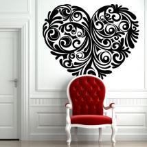 Tribal coeur de mur stickers