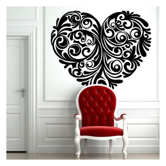 tribal coeur de mur stickers. Black Bedroom Furniture Sets. Home Design Ideas