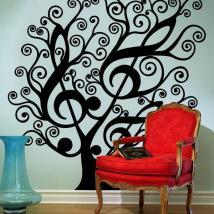 Arbre Musical vinyle décoratif