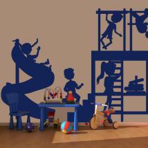 Enfants jouant vinyle décoratif