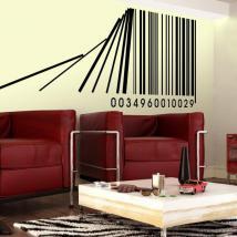 Code à barres décoratives vinyle