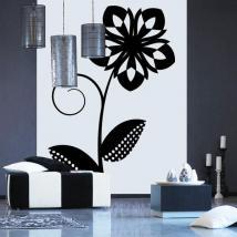 Décorer de fleurs rétro de murs