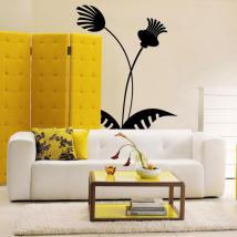 Décorer de fleurs tropicales de murs