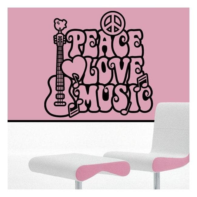 Amour et paix décoration murs