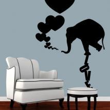 Décoration des murs elephant Love
