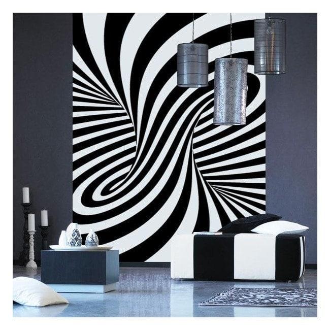 Décorer les murs illusion d'optique