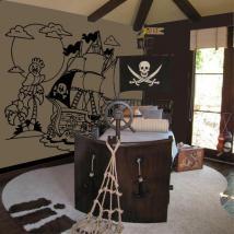 Décorer les murs bateau de pirate