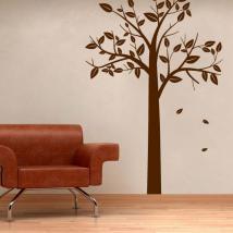 Décorer murs arbre automnal