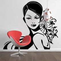 Femme de décoration murale silhouette