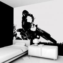 Décorer les murs de Motocross