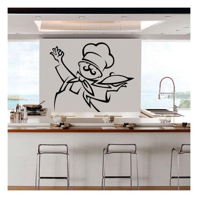 Décorer murs cuisine Chef