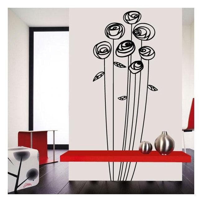 Décoration de fleur de mur