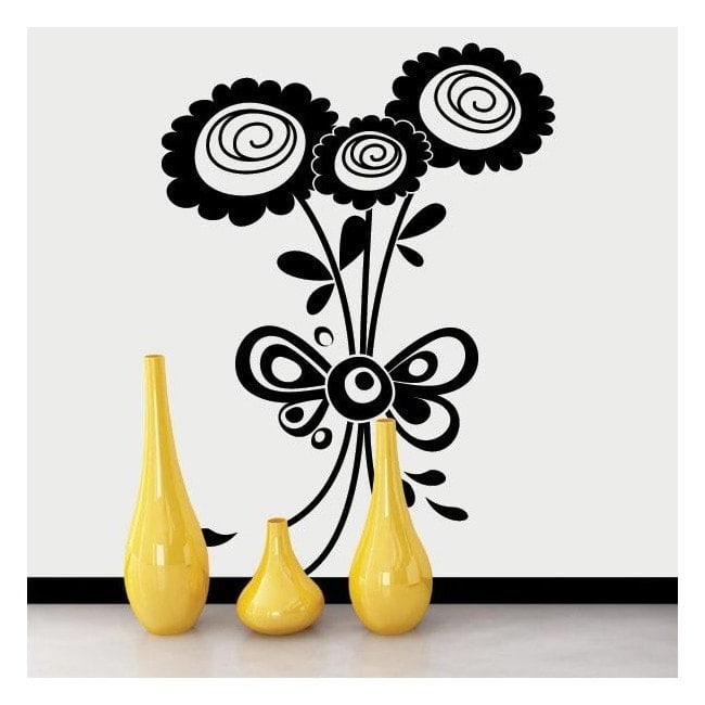 Design Floral décoratif de vinyle