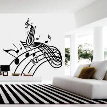 Personnel de musique vinyle décoratif