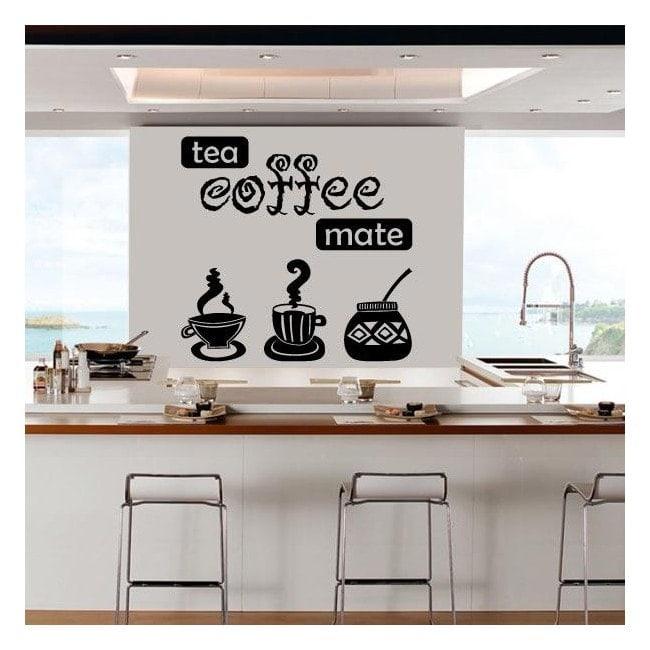 Café thé décoratifs vinyle Mate
