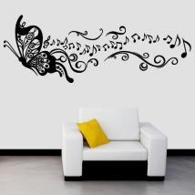 Musique de vinyle décoratif papillon