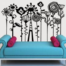 Décor mural art Floral